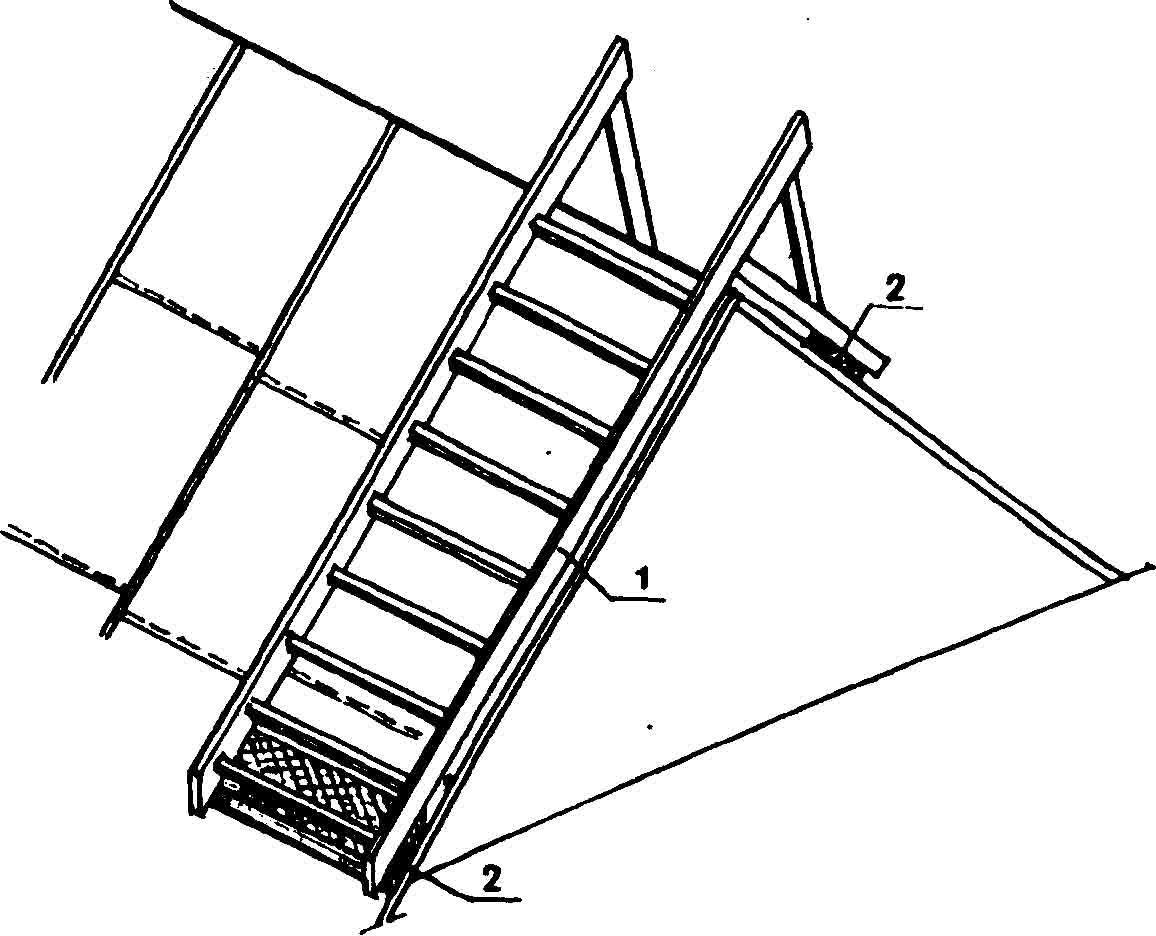 Сделать лестницу для крыши своими руками